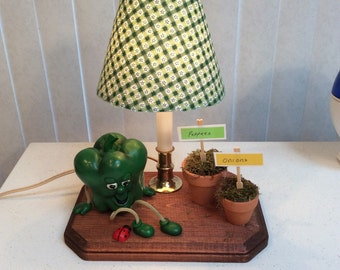 Green pepper lamp