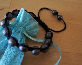 Bright Shamballa Bracelet, Women's Jewerly, Adjustable Beaded Bracelet, Fashion