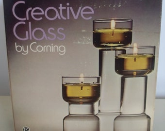 Corning Flame Glow Candle Holder Trio,  Creative Glass,  Corning, Candle Decor,  Decor,  Home Decor