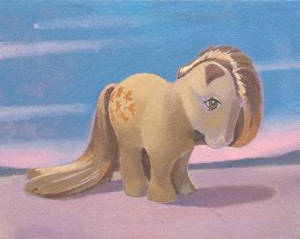 My Little Pony Vintage G1 Butterscotch 14 x 11 Print