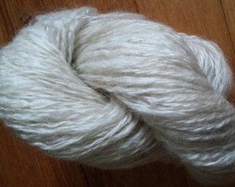 Handspun English Leicester Yarn Natural white