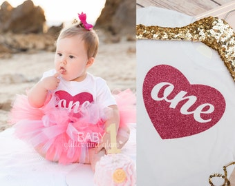 First Birthday Shirt, Baby Girls First Birthday Shirt, 1st Birthday Girl Clothes Outfit, Birthday One Sparkle Outfit