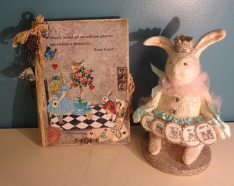 Alice in Wonderland Altered Book - Special Occasion, Party, Home Decor