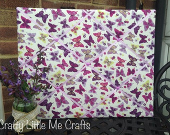 Purple and Lilac Butterfly Memo Photo Board