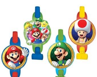 Super MARIO Brothers BLOWOUTS Video Game Birthday Party Supplies Favors Photo Prop Rewards