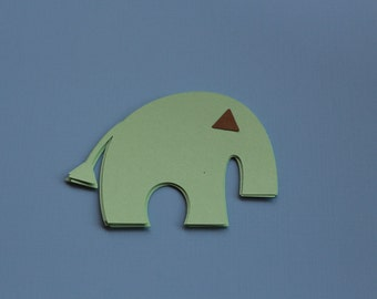 PAPER ELEPHANTS-Baby Shower- Jungle theme-baby animals-nursery decoration--Its a boy