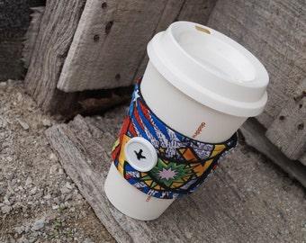 Reusable Coffee Cup Cozy ~*Comic Print*~