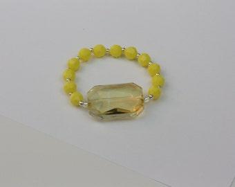 happiness yellow beaded bracelet #30