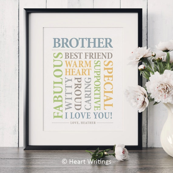 Brother Wedding Gift: Christmas Gift For Brother Birthday Gift For Brother Wedding
