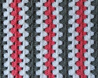 Granny Stripe Baby Blanket