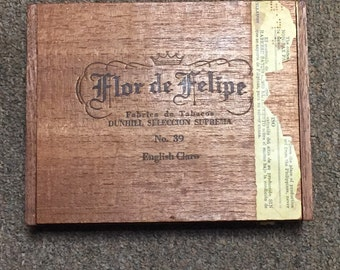 RARE 1960s Dunhill - Flor de Felipe cigar box - great condition