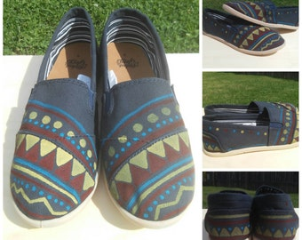 Color Pattern Mandala Hand Painted Women Shoes Casual Aline Generic Toms Size * Women's US Pattern