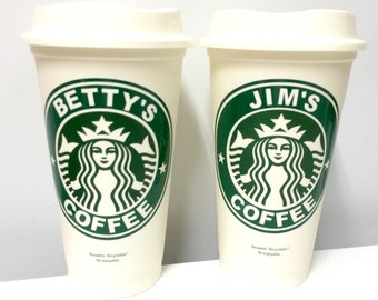 Starbucks Coffee Cups Reusable & Personalized 16oz