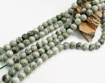 Natural Peace Jade 18mm Round Beads 16 inch Strand