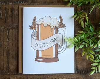 Father's Day Beer Card, Father's Day Handmade Card