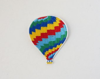 """2.8"""" Hot Air Balloon Embroidered Iron On Applique Patches DIY"""