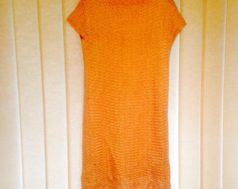 Vintage baby pink shift dress, size 10-12