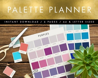 Printable Swatches | Pick your wedding colour palette! | Great for branding & designers