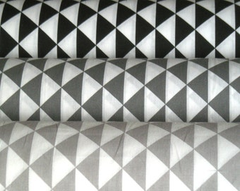 Fabric black anthracite gray triangles