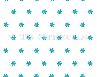 Flowers Stencil to be used with reverse quatrefoil by 2T's