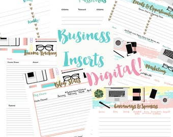 Happy Planner Online Business Printable Inserts