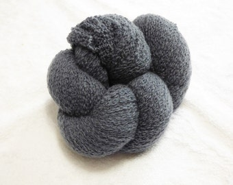 Recycled 2-Ply Laceweight 100% Cashmere in Dark Dove Gray 1828  yards avalible