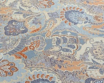 Brushed Cotton Twill Fabric, Extra Wide 98 Inch Scroll Design Bedding Fabric (JJ320)