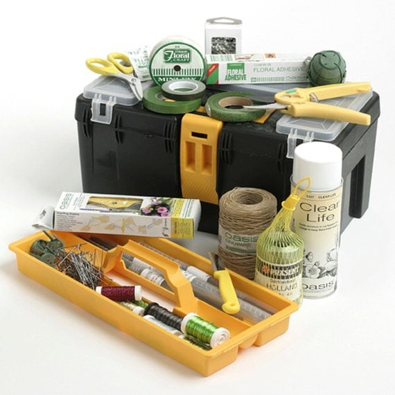 Floristry tool box flower arranging kit for Arranging accessories