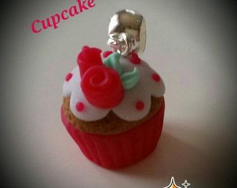 Cupcake necklace handmade Fimo
