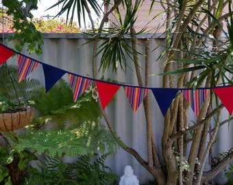 ON SALE!! Aztec/Mexican inspired bunting. Festive, vibrant and bold