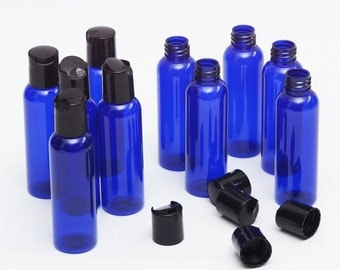 Brand New 2 Oz Empty Plastic Blue PET Bottles with Dispensing cap ( 10 PACK ) ( 20 Pack )