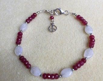 Ruby and Moonstone Bracelet