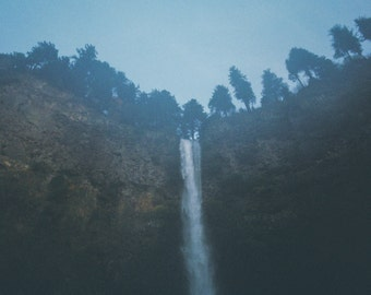 Waterfalls and Fog: Fine Art Photography Print