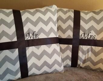 Mr. & Mrs. pillow shams