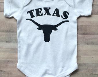 UT baby boy, UT Baby Girl, texas bodysuit, University of Texas Baby, longhorn baby, UT Baby, university of Texas baby Gift, ut baby gift