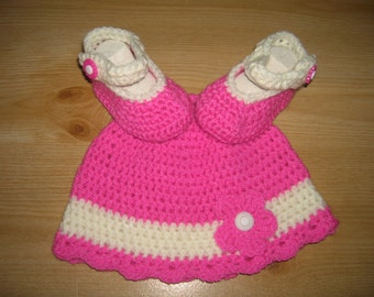 Baby set, baby hats, baby shoes, hat, shoes, crochet first set,