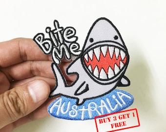 Bite Me - Australia Iron on Patch