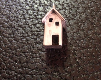 Sterling silver miniature house pendent