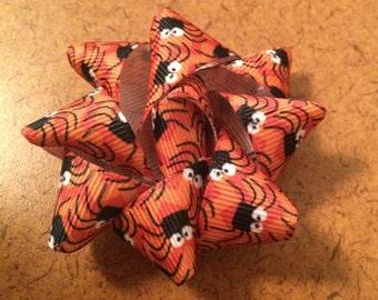 Orange and Black Halloween Spider Barrette