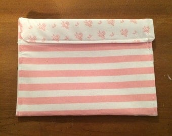 Small Pink Stripe Bag