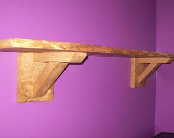 oak rustic waney edge shelves/shelf