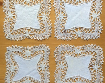 Small Vintage Square Doilies