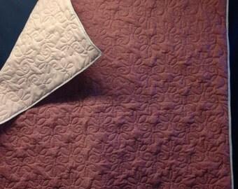 Pink/white-baby quilt/blanket