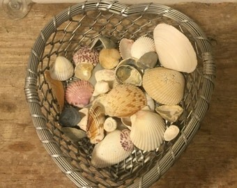 Cute heart shaped metal basket!