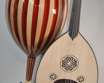 Handmade arab acoustic turkish oud lute 11 strings walnut and spruce