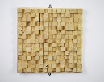 Hand Crafted Solid Pine Squares Wall Art