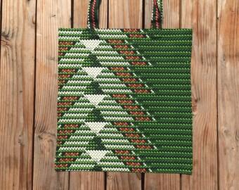 "Tote Bag ""Guédiawaye"", Wax, handmade, beach bag, yoga bag, canvas"