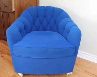 Mid century modern barrel  armchair