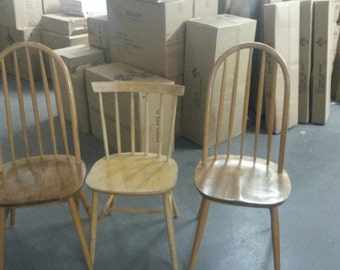3 mixed Ercol Style Vintage Chairs