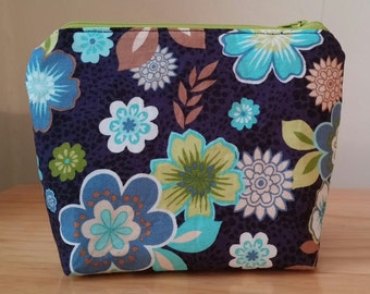 Spring Make Up Bag- Cosmetic Bag- Zip-up Pouch